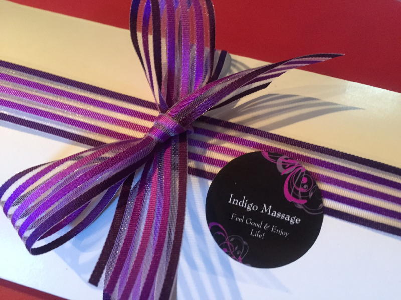 Gift certificates available for massage services at Indigo Massage in Chester, VA.